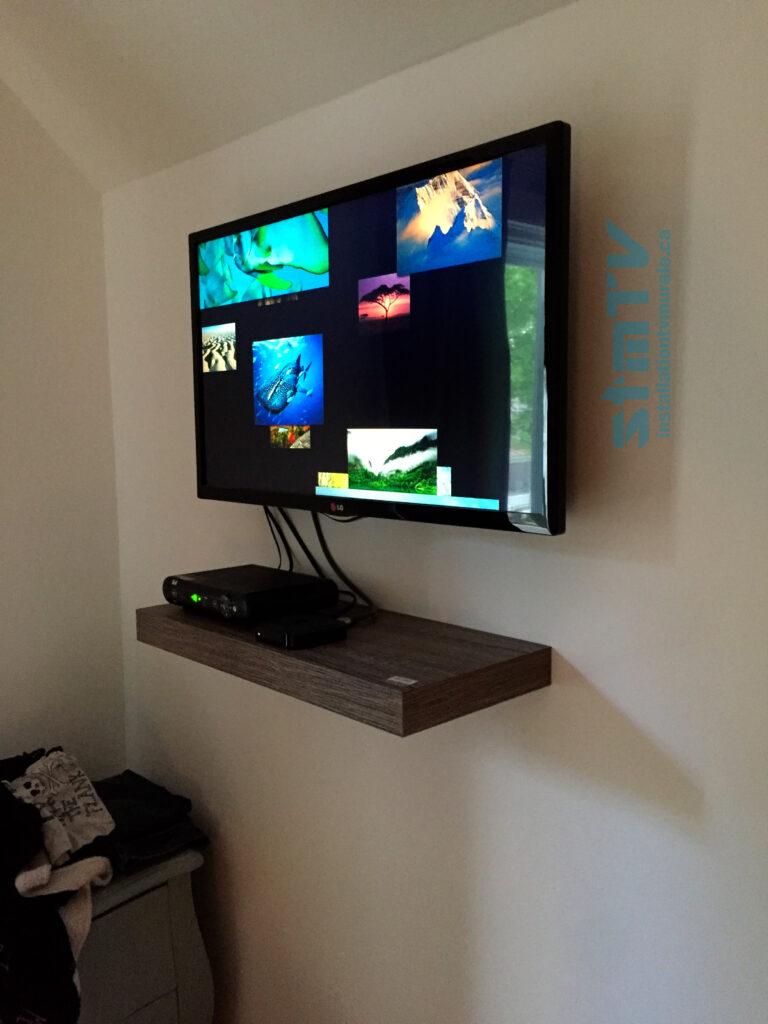 tv sur mur