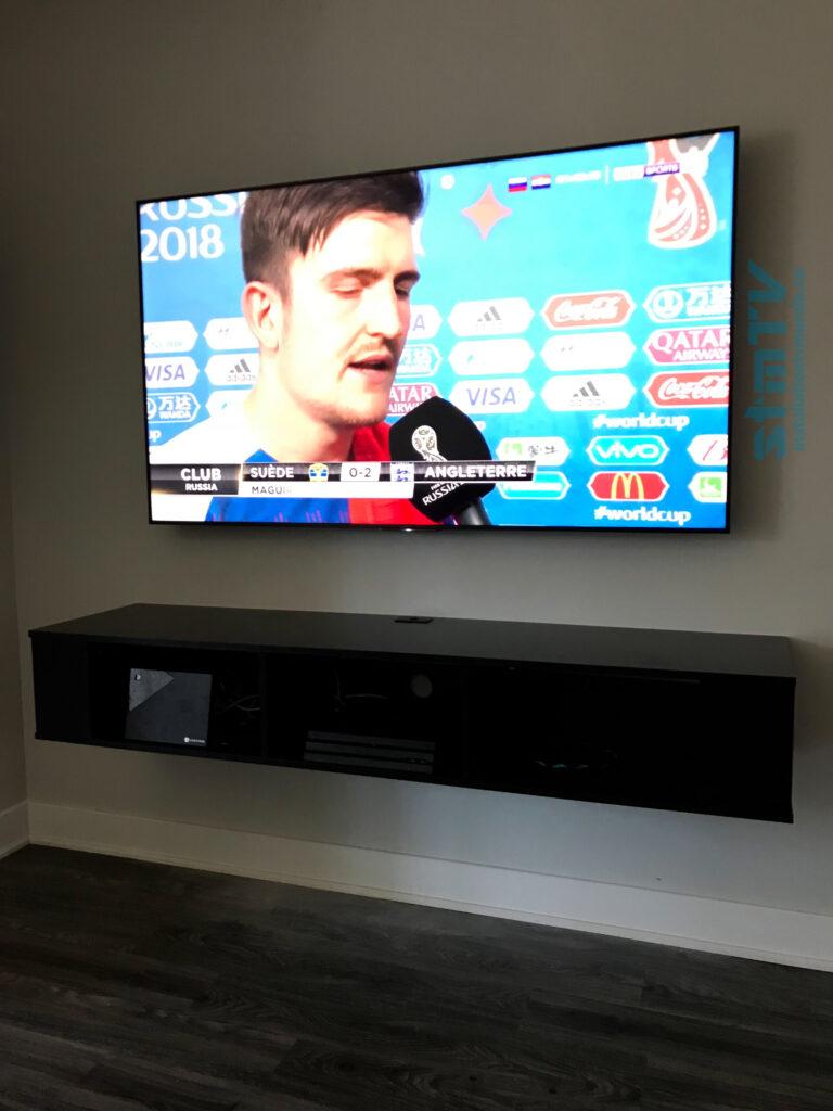 meuble tv suspendu tv murale fixer au mur