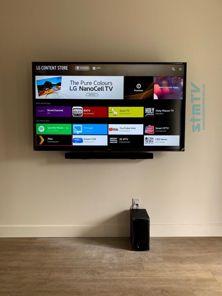barre de son et installation tv