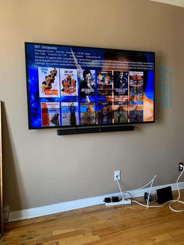 Installation professionel de tv sur mur