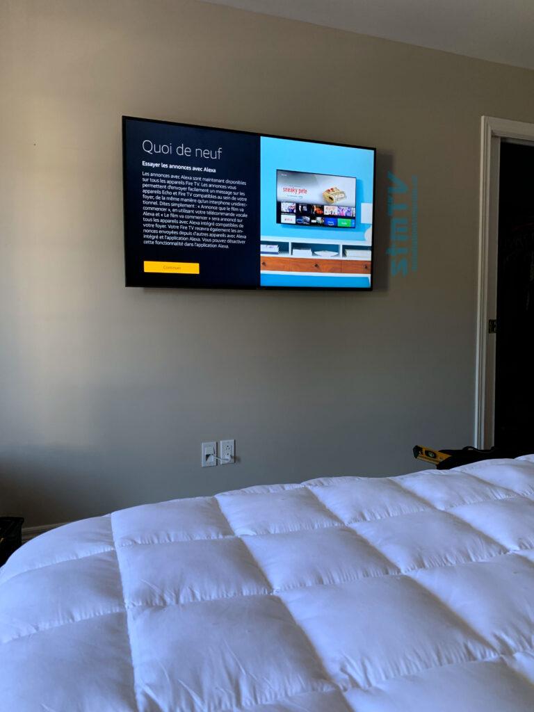 installateur tv au mur