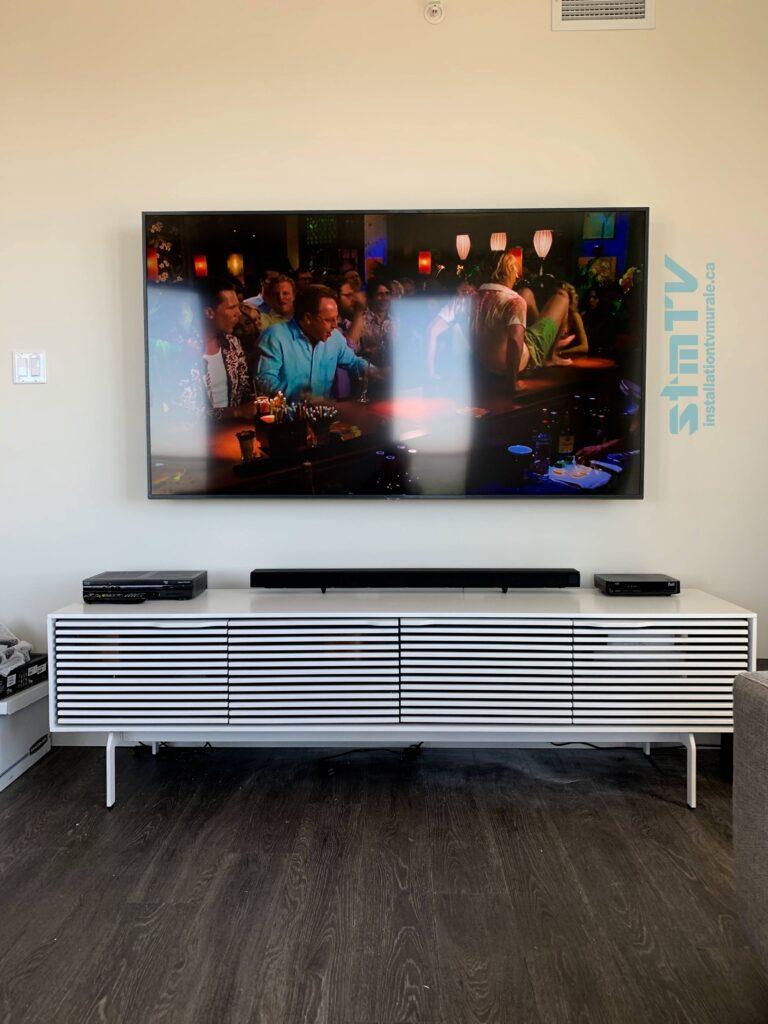 installation tv sur mur