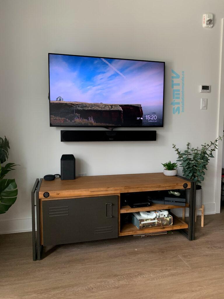 tv au mur