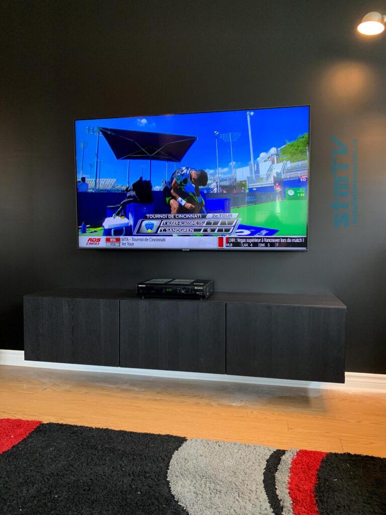 meuble tv au mur et instalation tv