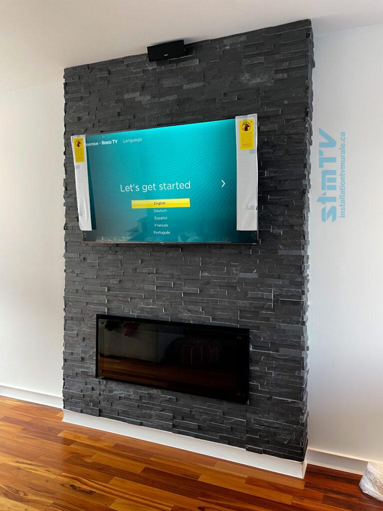 tv sur mur laval