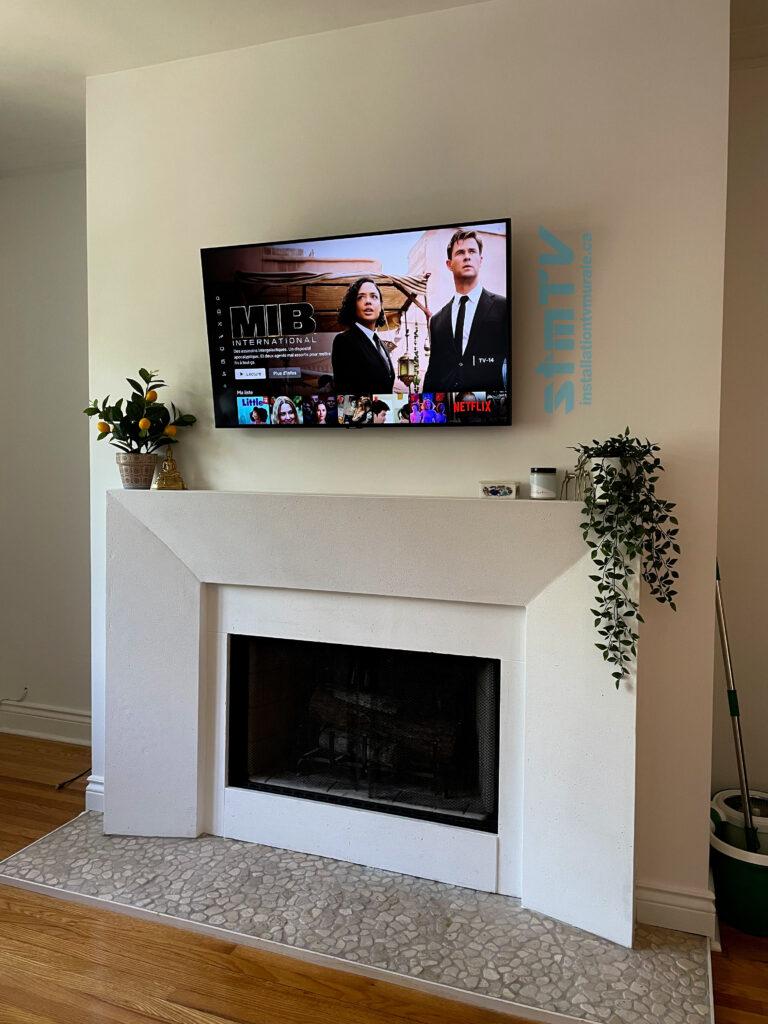 tv sur mur ndg
