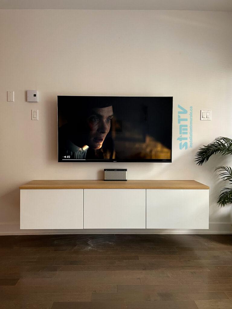 installation tv montreal meuble besta au mur ikea tv