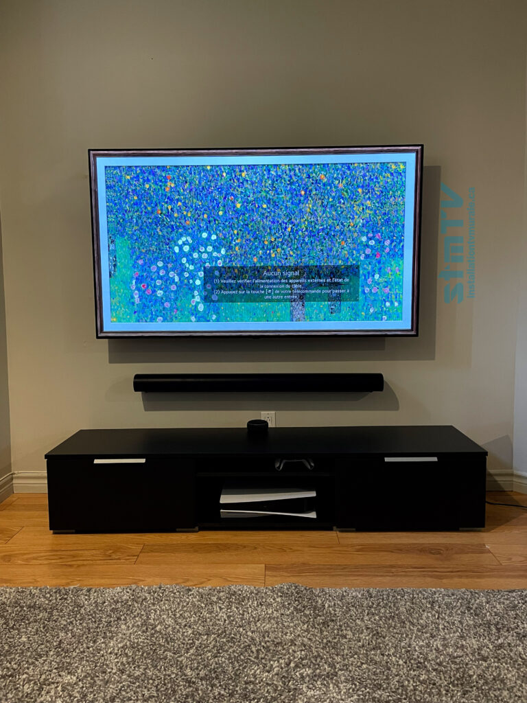 lg oled sur support murale