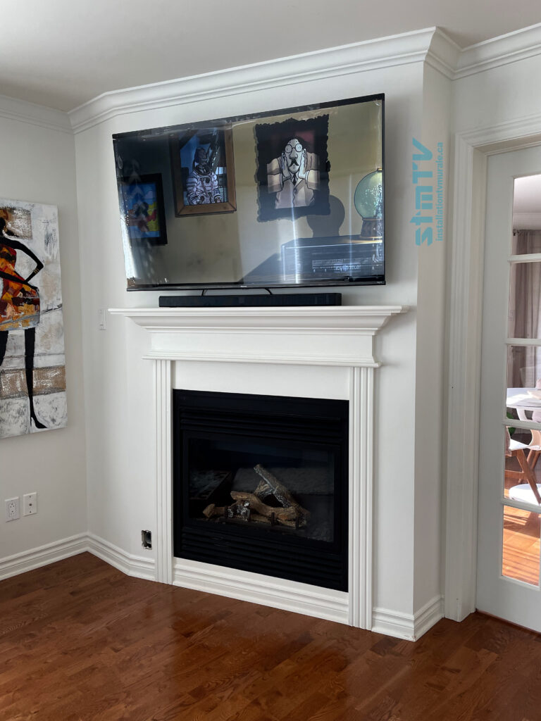 tv sur le mur
